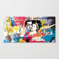 casablanca Canvas Prints featuring Casablanca by Paky Gagliano