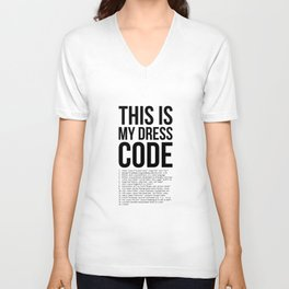 This is My Dresscode Coder Developer Computer Nerd Code Gift Unisex V-Neck