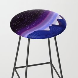Mountains in Space Bar Stool