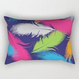 Bright Falling Feathers Rectangular Pillow
