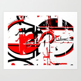 "Grunge Meets Deco - Initials ""R"" and ""S"" Typography Art Print"