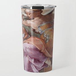 The Libyan Sybil Sistine Chapel Ceiling by Michelangelo Travel Mug