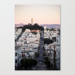Coit Tower at Twilight Canvas Print