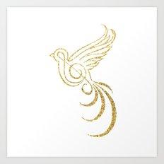 Golden Songbird Art Print