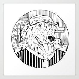 Wall Street Dog Art Print