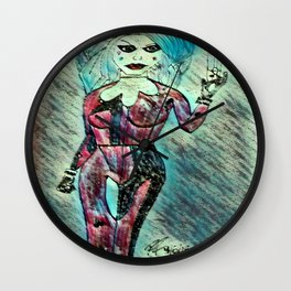 Quinn in the Rain Wall Clock