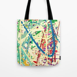 An Homage to Pollock Tote Bag