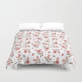 Folk floral pattern. Pink Flowers. Duvet Cover