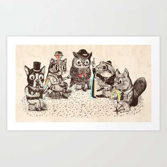 Strange Animals Art Print