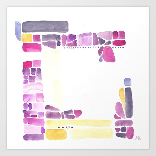 Dottery Three Art Print