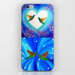 Blue designs iPhone Skin