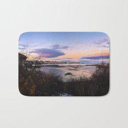 Sunset Panorama of the Portland, Maine Skyline Bath Mat
