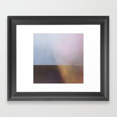 1766 - Abstract seascape geometric painting Framed Art Print