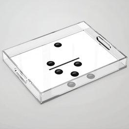 White Domino / Domino Blanco Acrylic Tray
