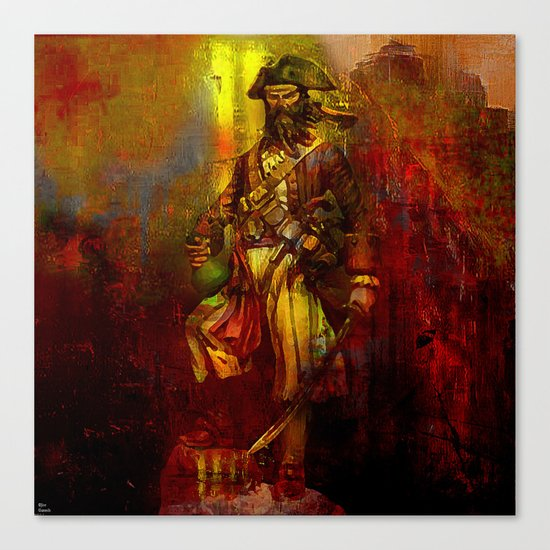 The den of the pirate Canvas Print