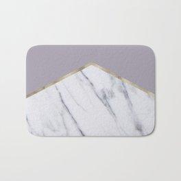 Smokey lilac - gold geometric marble Bath Mat