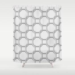 Turandot Chinoiserie Lattice Chromium Shower Curtain