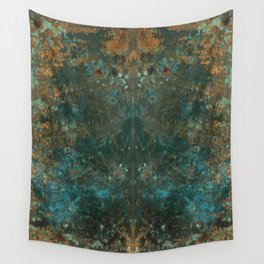 Rorschach Patina Blue Wall Tapestry