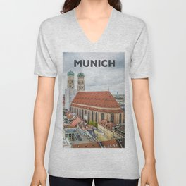 The Cathedral of Munich Unisex V-Neck