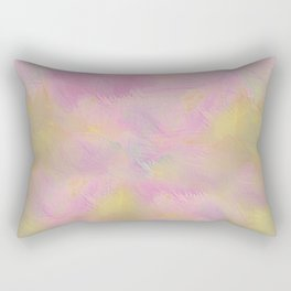 Soft Pastel Feathered Abstract Rectangular Pillow
