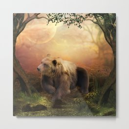 Awesome bear in the night Metal Print