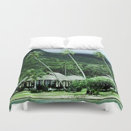 Tropical Paradise In Exotic French Polynesia Duvet Cover