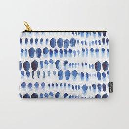 Indigo Watercolour Paint Splodges Carry-All Pouch
