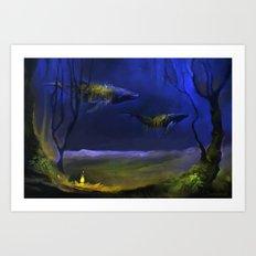 In The Light You Follow Me Art Print