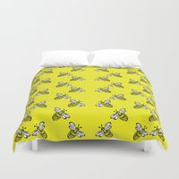 bee Duvet Covers featuring Bee. by mothermary