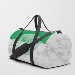 Natural Outlines - Leaf Green & White Marble #452 Duffle Bag