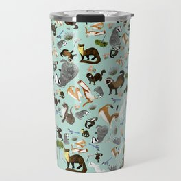 Mustelids from Spain pattern Travel Mug
