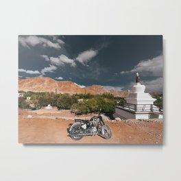 Bike Ride in Ladakh Metal Print
