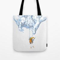 wallet Tote Bags featuring Avalanche by Aneesh vini