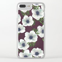 anemone floral // repeat pattern Clear iPhone Case