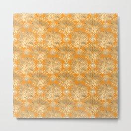 Golden Chrysanthemum flowers Metal Print