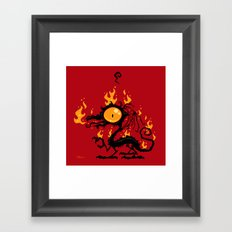 Backfire Framed Art Print