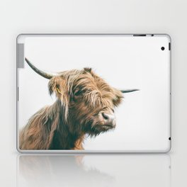 Majestic Highland cow portrait Laptop & iPad Skin