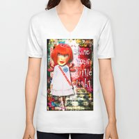 "sparkle V-neck T-shirts featuring ""Sparkle"" by Crow's Feet Designs2"