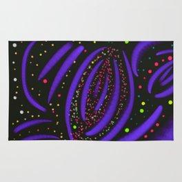 Purple Fireworks Display Rug