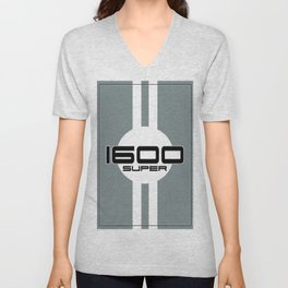 1600 Super Racing Design Unisex V-Neck