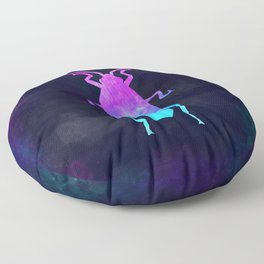 COCKROACH IN SPACE // Animal Graphic Art // Watercolor Canvas Painting // Modern Minimal Cute Floor Pillow
