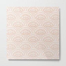 Bohemian Scallops - Burnt Sienna Metal Print