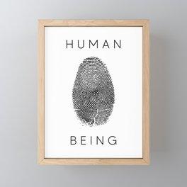 Human Being - FingerPrint (Version #2) Framed Mini Art Print