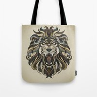 lion Tote Bags featuring Lion by Andreas Preis