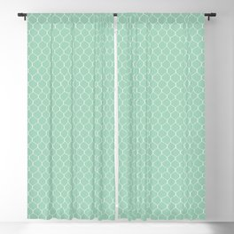 Chicken Wire Mint Blackout Curtain