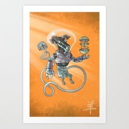 Astro Zodiac Force 08: Ram Art Print