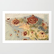 Salt Harbour Map Art Print