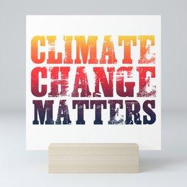 Climate Change Matters Mini Art Print