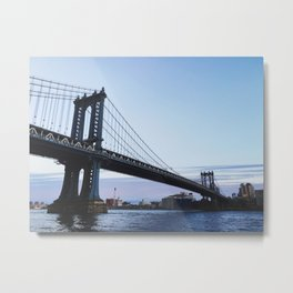 MANHATTAN BRIDGE AT DUSK Metal Print