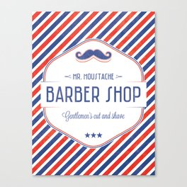 Mr. Moustache Barber Shop Canvas Print